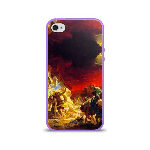Чехол для Apple iPhone 4/4S силиконовый глянцевый  Фото 01, Брюллов - Последний день Помпеи