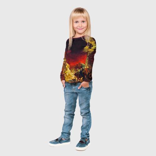 Детский лонгслив 3D  Фото 04, Брюллов - Последний день Помпеи