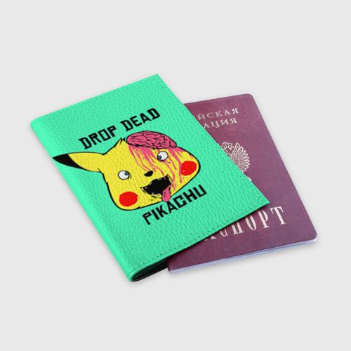 Обложка для паспорта матовая кожа  Фото 03, Drop Dead