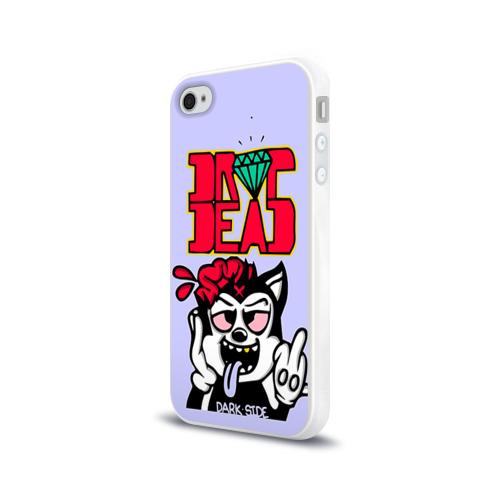 Чехол для Apple iPhone 4/4S силиконовый глянцевый  Фото 03, Drop Dead