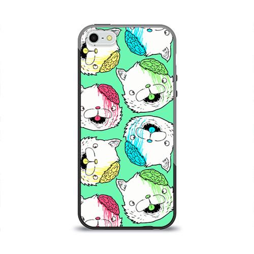 Чехол силиконовый глянцевый для Телефон Apple iPhone 5/5S Drop Dead от Всемайки