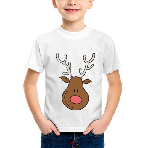 Детская футболка синтетическая Улыбка оленя от Всемайки