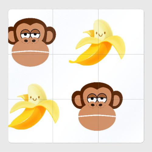 Магнитный плакат 3Х3 Обезьяна и банан