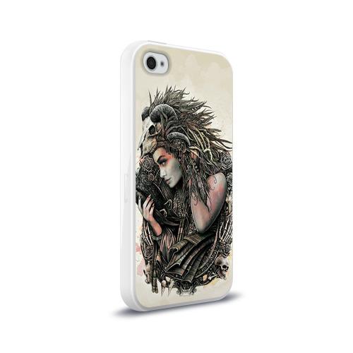 Чехол для Apple iPhone 4/4S силиконовый глянцевый  Фото 02, Немезида
