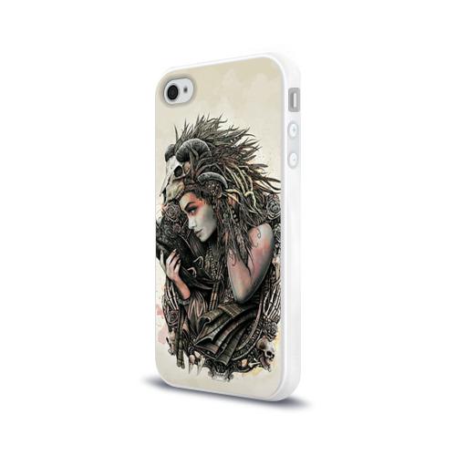 Чехол для Apple iPhone 4/4S силиконовый глянцевый  Фото 03, Немезида