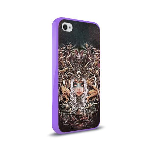 Чехол для Apple iPhone 4/4S силиконовый глянцевый  Фото 02, Королева мертвых