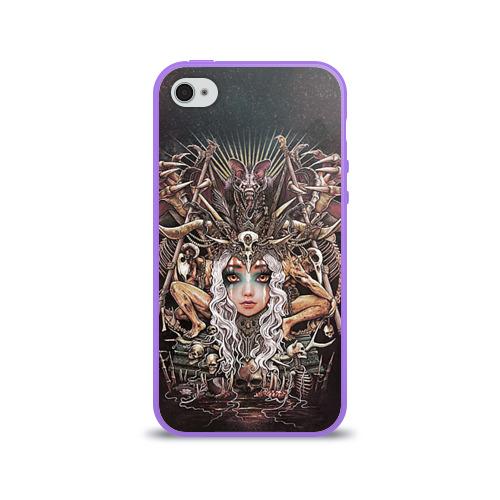 Чехол для Apple iPhone 4/4S силиконовый глянцевый  Фото 01, Королева мертвых