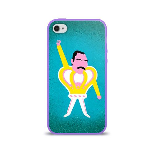 Чехол для Apple iPhone 4/4S силиконовый глянцевый  Фото 01, Freddie Mercury