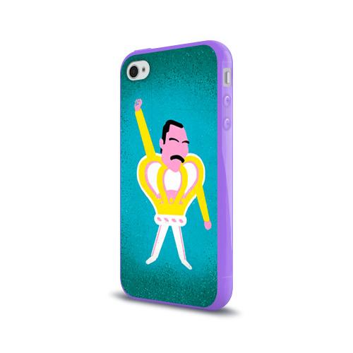 Чехол для Apple iPhone 4/4S силиконовый глянцевый  Фото 03, Freddie Mercury