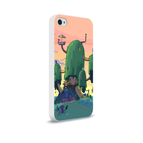Чехол для Apple iPhone 4/4S soft-touch  Фото 02, Adventure Time