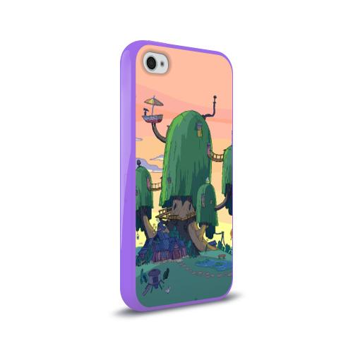 Чехол для Apple iPhone 4/4S силиконовый глянцевый  Фото 02, Adventure Time