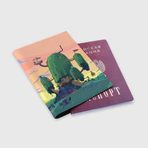 Обложка для паспорта матовая кожа  Фото 03, Adventure Time