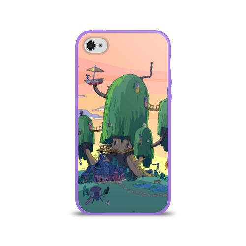 Чехол для Apple iPhone 4/4S силиконовый глянцевый  Фото 01, Adventure Time