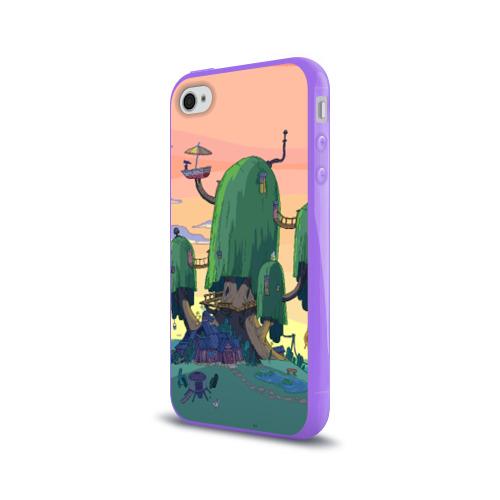 Чехол для Apple iPhone 4/4S силиконовый глянцевый  Фото 03, Adventure Time