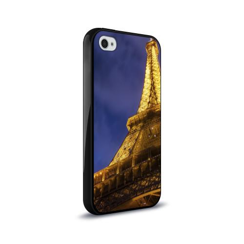 Чехол для Apple iPhone 4/4S силиконовый глянцевый  Фото 02, Эйфелева башня