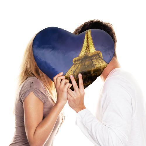 Подушка 3D сердце  Фото 03, Эйфелева башня