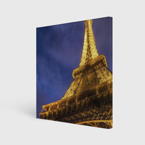 Холст квадратный  Фото 01, Эйфелева башня