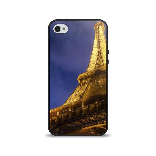 Чехол для Apple iPhone 4/4S силиконовый глянцевый  Фото 01, Эйфелева башня