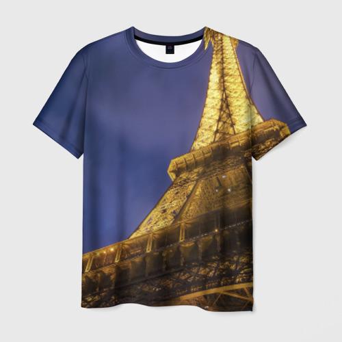 Мужская футболка 3D Эйфелева башня от Всемайки