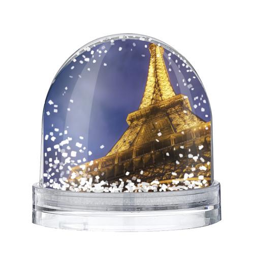 Водяной шар со снегом Эйфелева башня