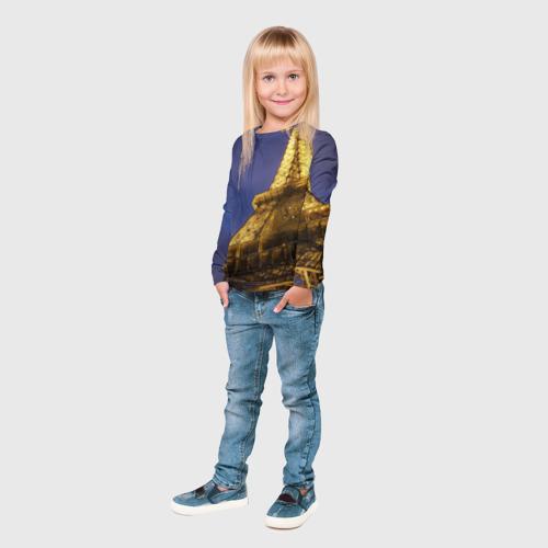 Детский лонгслив 3D  Фото 04, Эйфелева башня