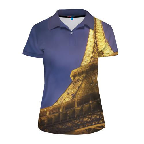 Женская рубашка поло 3D Эйфелева башня