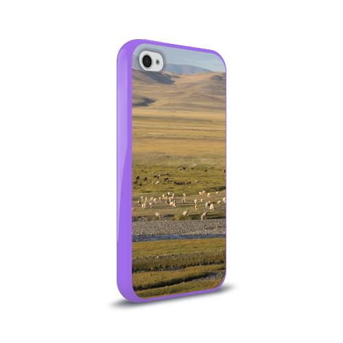 Чехол для Apple iPhone 4/4S силиконовый глянцевый  Фото 02, Долина жизни