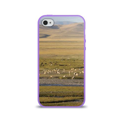 Чехол для Apple iPhone 4/4S силиконовый глянцевый  Фото 01, Долина жизни