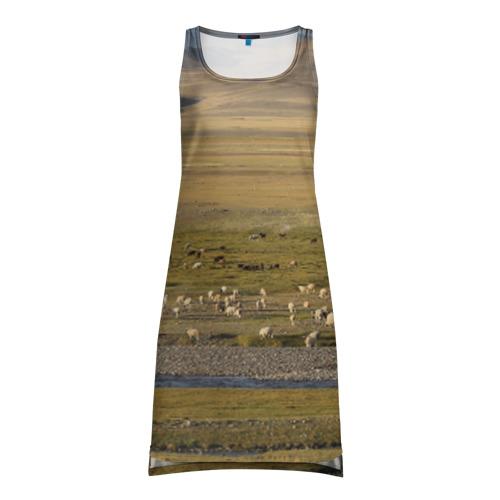 Платье-майка 3D Долина жизни