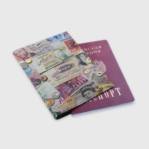 Обложка для паспорта матовая кожа Pounds Фото 01