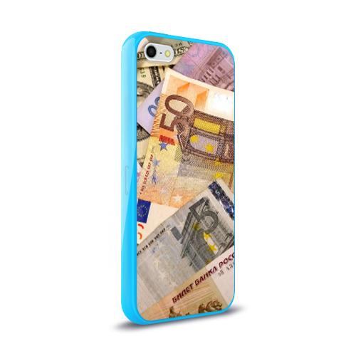 Чехол для Apple iPhone 5/5S силиконовый глянцевый Money Фото 01