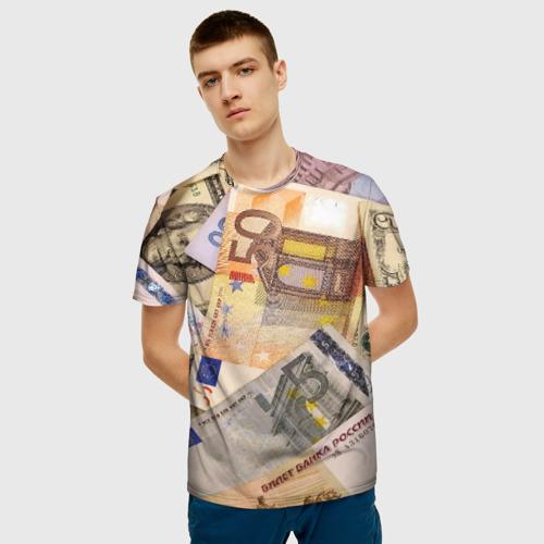 Мужская футболка 3D Money Фото 01
