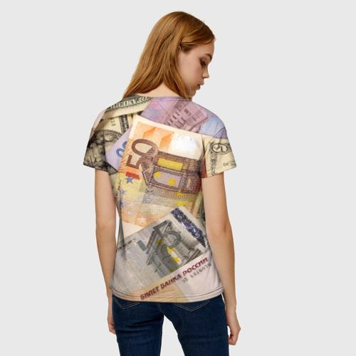 Женская футболка 3D Money Фото 01