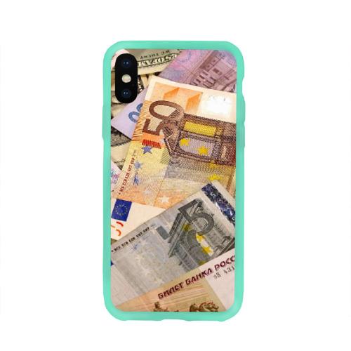 Чехол для Apple iPhone X силиконовый глянцевый Money Фото 01