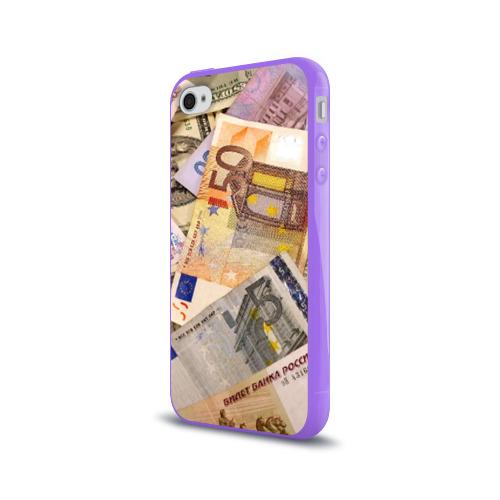 Чехол для Apple iPhone 4/4S силиконовый глянцевый Money Фото 01