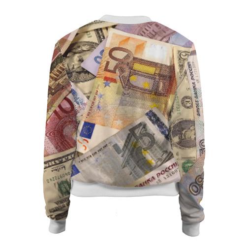 Женский бомбер 3D Money Фото 01