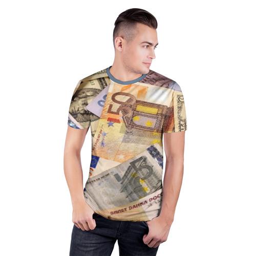 Мужская футболка 3D спортивная Money Фото 01