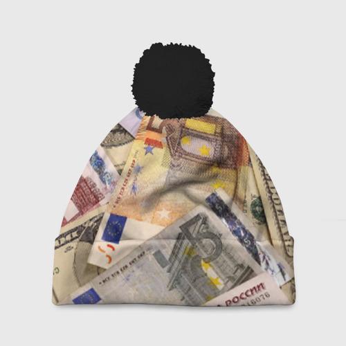 Шапка 3D c помпоном Money