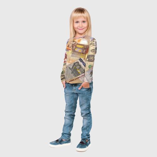 Детский лонгслив 3D Money Фото 01