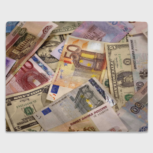 Плед 3D Money Фото 01