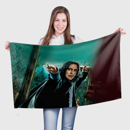 Флаг 3D  Фото 01, Черноволосый учитель мальчика
