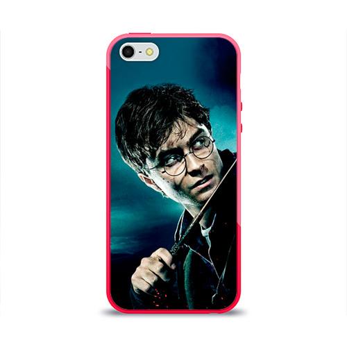 Чехол для Apple iPhone 5/5S силиконовый глянцевый Гарри Поттер