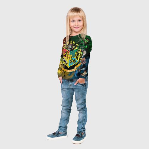 Детский лонгслив 3D  Фото 04, Хогвартс