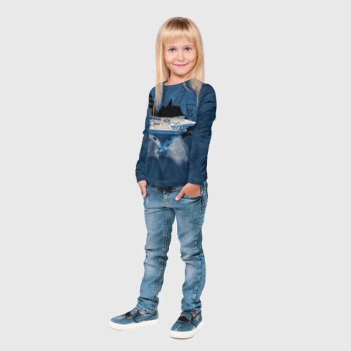 Детский лонгслив 3D  Фото 04, Авианосец