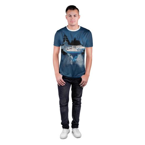 Мужская футболка 3D спортивная Авианосец Фото 01