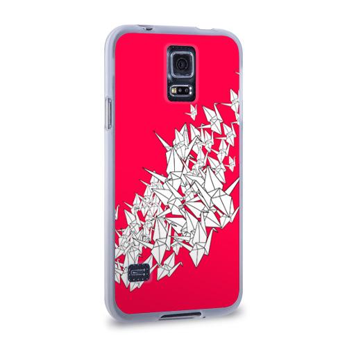 Чехол для Samsung Galaxy S5 силиконовый  Фото 02, 1000 Cranes
