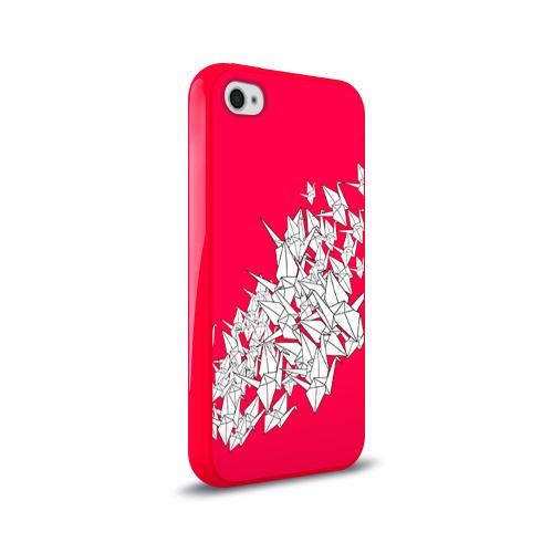Чехол для Apple iPhone 4/4S силиконовый глянцевый  Фото 02, 1000 Cranes
