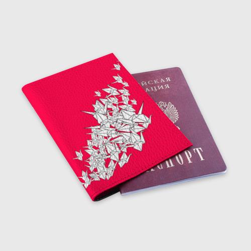 Обложка для паспорта матовая кожа  Фото 03, 1000 Cranes