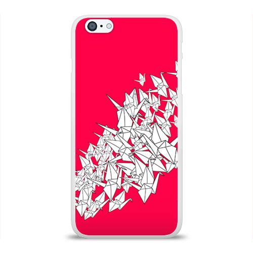 Чехол для Apple iPhone 6Plus/6SPlus силиконовый глянцевый  Фото 01, 1000 Cranes