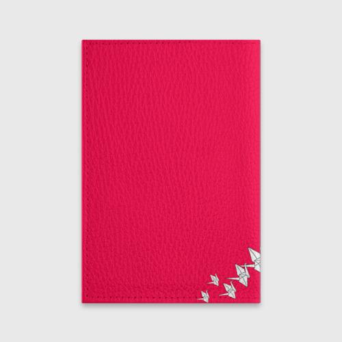 Обложка для паспорта матовая кожа  Фото 02, 1000 Cranes